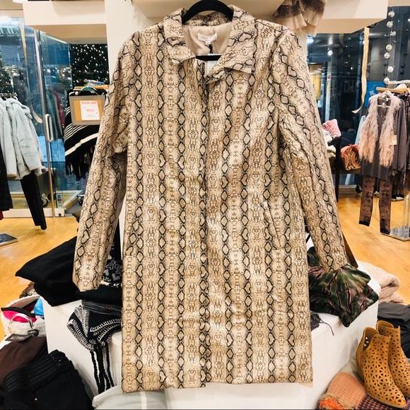 Jackets & Blazers - Python Trench Coat